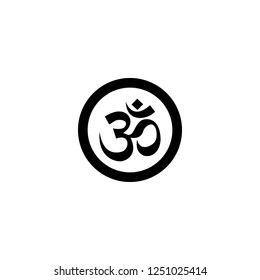 om symbol vector icon. om symbol sign on white background. om symbol icon for