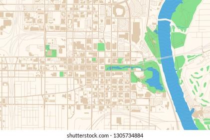 Omaha Nebraska Map Images Stock Photos Vectors Shutterstock