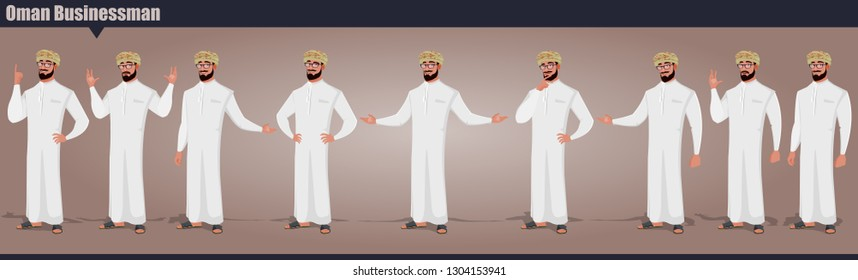 Oman Businessman character Pack