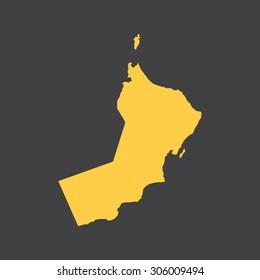 Oman Country Mapborder Stock Vector (Royalty Free) 333031991