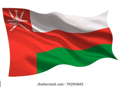 Oman national flag flag icon
