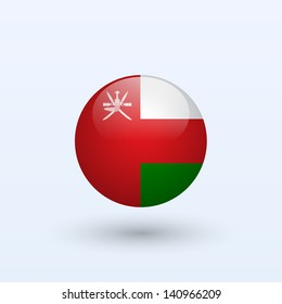 Oman round flag. Vector illustration.