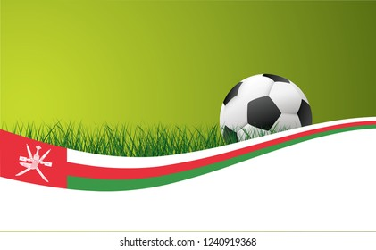 Oman Thailand national flag football Vector World cup uae Vector Soccer green grass field football sport ball  banner background poster wave wallpaper EK WK play model Arabische Aziatisch Asian 2019