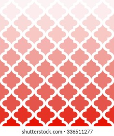 Ombre quatrefoil pattern vector, repeatable horizontally, each color in separate layer