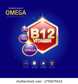 Omega 3 Nutrition and Vitamin Logo Products for Kids.