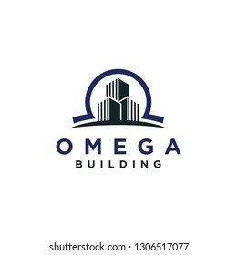 Omega / Building / Real estate logo