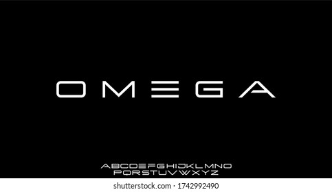 omega futuristic modern font sporty typeface