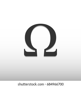 Omega icon. Ohm icon and symbol vector