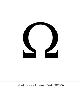 Omega icon in trendy flat style isolated on background. Web Omega icon page symbol for your web site design Web Omega icon logo, app, UI.Web Omega icon Vector illustration, EPS10.