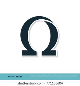 Omega Icon Vector Logo Template Illustration Design. Vector EPS 10.