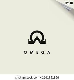 Omega Logo Design Vector Template. Modern Design. Omega Logo. Vector Illustration