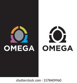omega logo modern vector icon