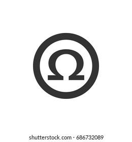 Omega Sign Logo Template Illustration Design. Vector EPS 10.