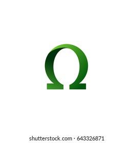 Omega Symbol Logo Template Illustration Design. Vector EPS 10.