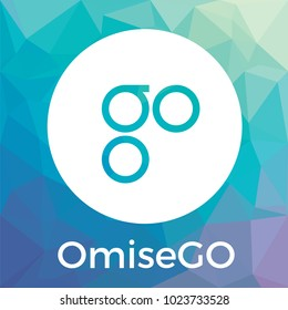 OmiseGO (OMG) blockchain banking, remittance, and exchange. OmiseGO cryptocurrency vector logo.