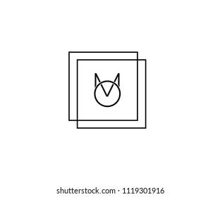 OM/MO minimal logo for branding