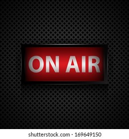 ON AIR message  studio sign