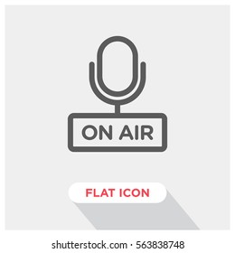 On air vector icon, radio symbol. Modern, simple flat vector illustration for web site or mobile app