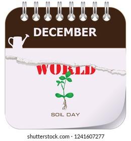 On the calendar World Soil Day. Vector illustration