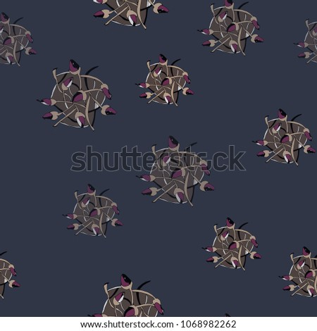 On Dark Blue Background Slightly Muted Stock Vector (Royalty