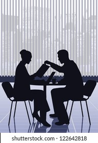 on the image the business meeting of businessmen is presented