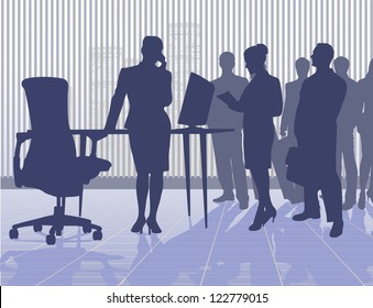 on the image work at office is presented