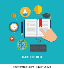 on line education with computer