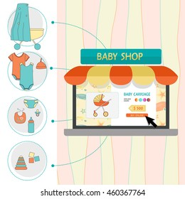 On line shop with baby products. Baby stuff