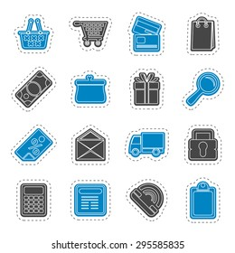 On line shop icons - vector  icon set