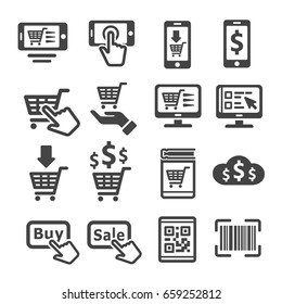 on line shopping,e-commerce icon