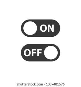 On off icon. Switch button. Vector illustration.