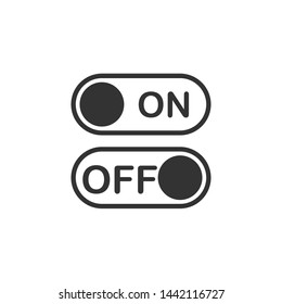 On off icon symbol template color editable. Switch button. simple logo vector illustration for graphic and web design.