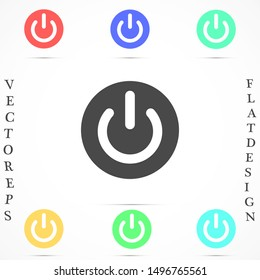 On, off Icon in trendy flat style isolated on grey background. Shutdown symbol for your web site design, logo, app, UI. Vector illustration, EPS10.