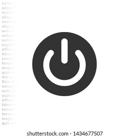 on off icon vector eps 10 , Lorem ipsum flat design