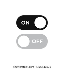 On off icon vector. Switch button sign