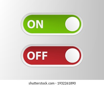 ON and OFF sign.Vector illustration isolated on white background.Eps 10.