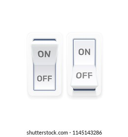 On off switch button ui isolated white background. Vector illustration