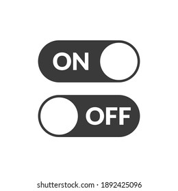On and Off Switch Buttons, vector icon Illustration