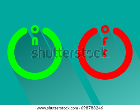 On Off Switch Icons Shadow On Stock Vector Royalty Free 698788246