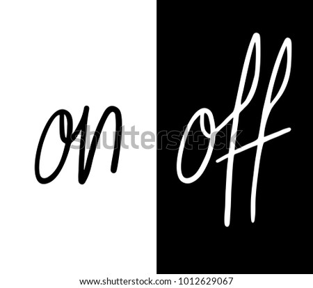 On Off Symbols Design Stock Vector Royalty Free 1012629067