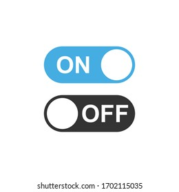 On and Off Toggle Switch Buttons, with Modern Devices User Interface, vector icon Illustration