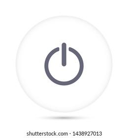 on off vector icon 10 eps , Lorem ipsum Flat design