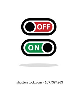 on off vector icon illustration with white background
