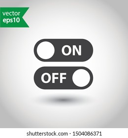 On off vector icon. Switch button sign. On/Off switch symbol.