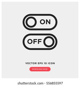On off vector icon, switch symbol. Modern, simple flat vector illustration for web site or mobile app