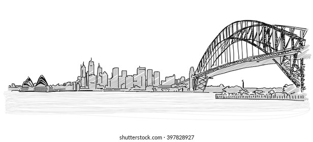 how to draw a harbor