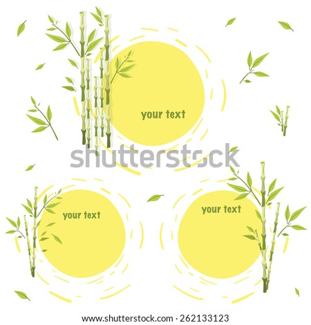 On Square Sheet Format Three Frames Stock Vector (Royalty Free ...