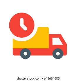 on time delivery truck