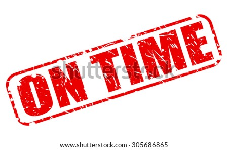 on time red stamp text on stock vector royalty free 305686865