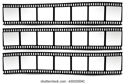 On white in black and white colors film, movie, photo, filmstrip